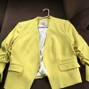 H&M Short Yellow Blazer Sz 12